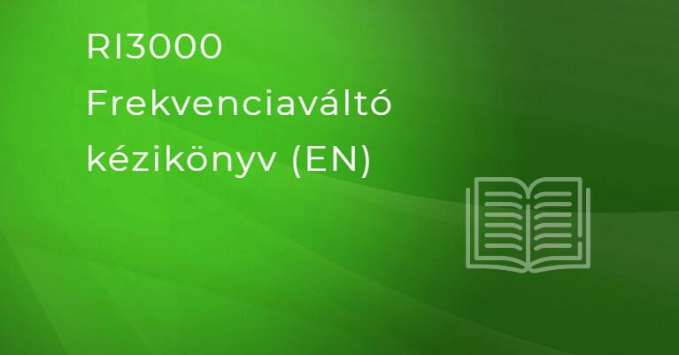 Rievtech RI3000 Frekvenciaváltó kézikönyv (HU)