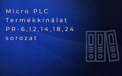 PR6,12,14,18,24 PLC sorozat katalógusa