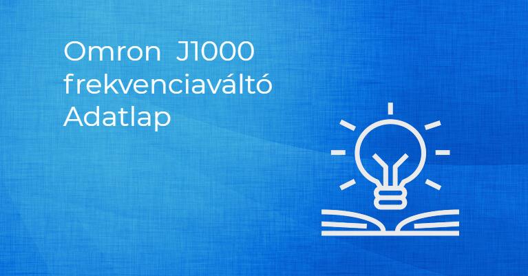 OMRON J1000 Frekvenciaváltó adatlap