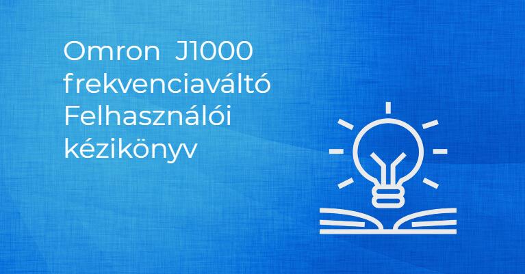 OMRON J1000 Frekvenciaváltó kézikönyv (EN)