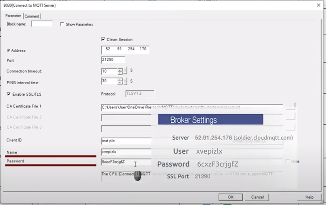 Client ; Name ; Password
