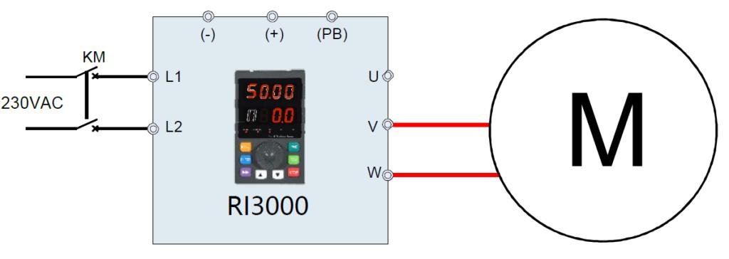 0,75kW kisebb 1fázisú motor bekötése kondenzátorral