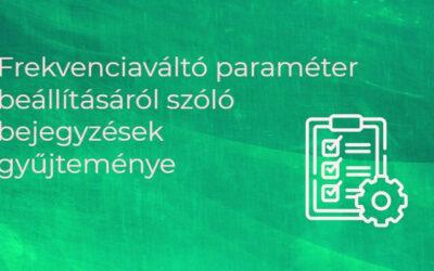 Frekvenciaváltó paraméterezés